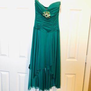Brand New Green Strapless Prom Dress